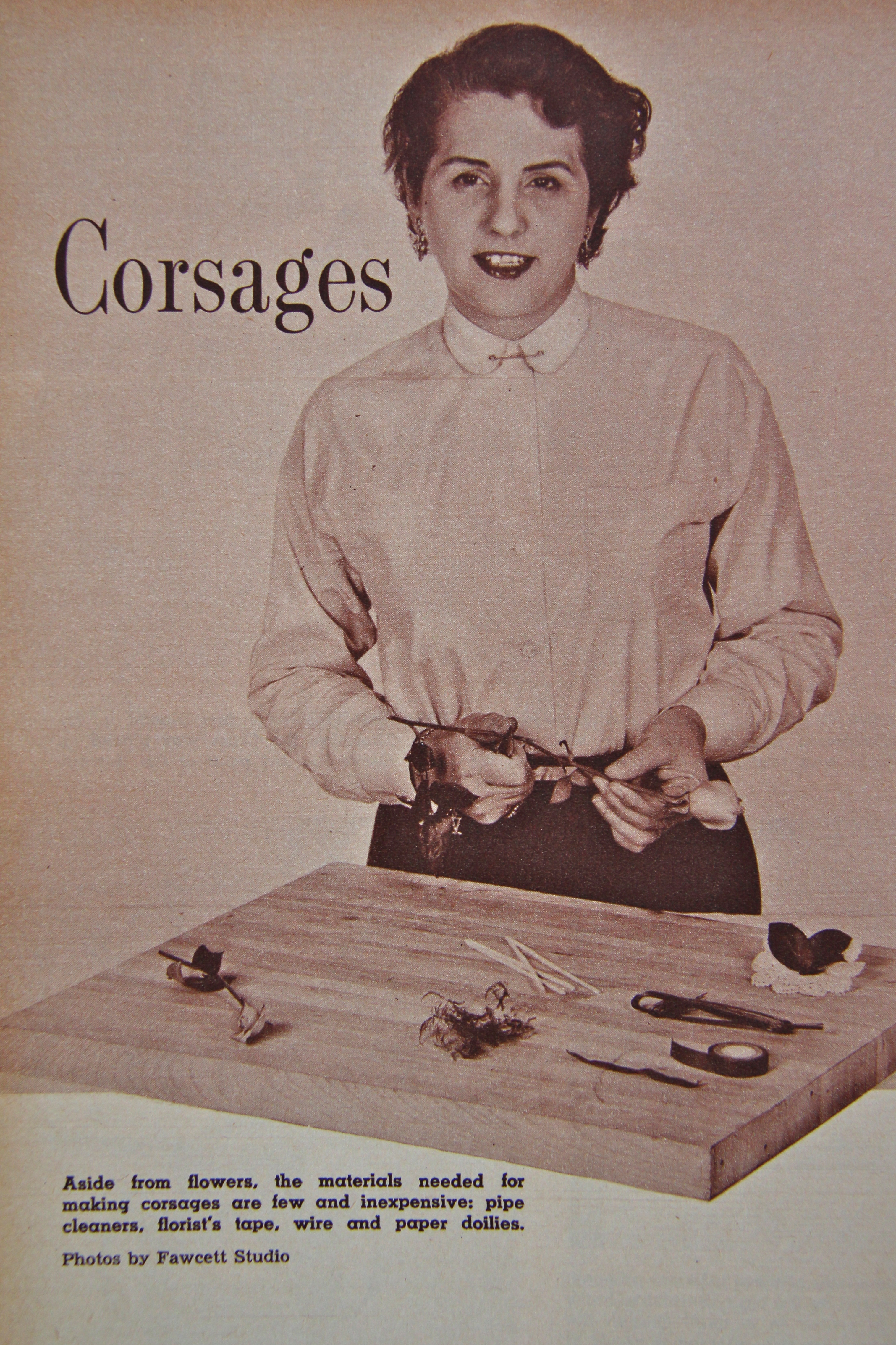 1954 Corsage