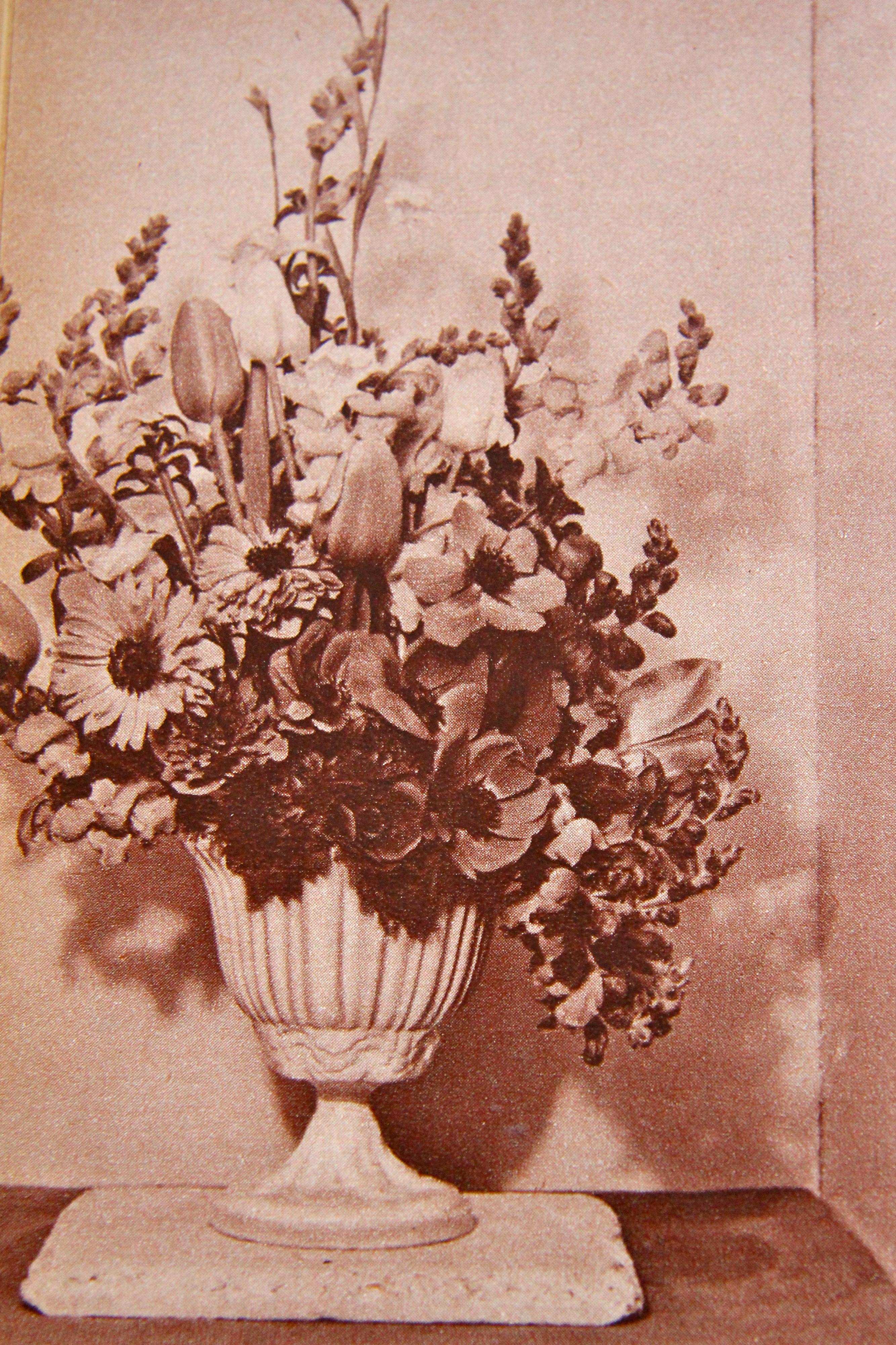 1950s urn flower arrangement