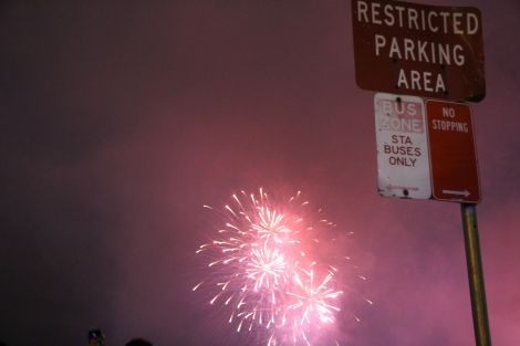 No parking fireworks