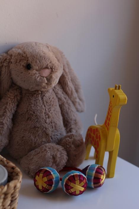 Bunny, giraffe, rattle