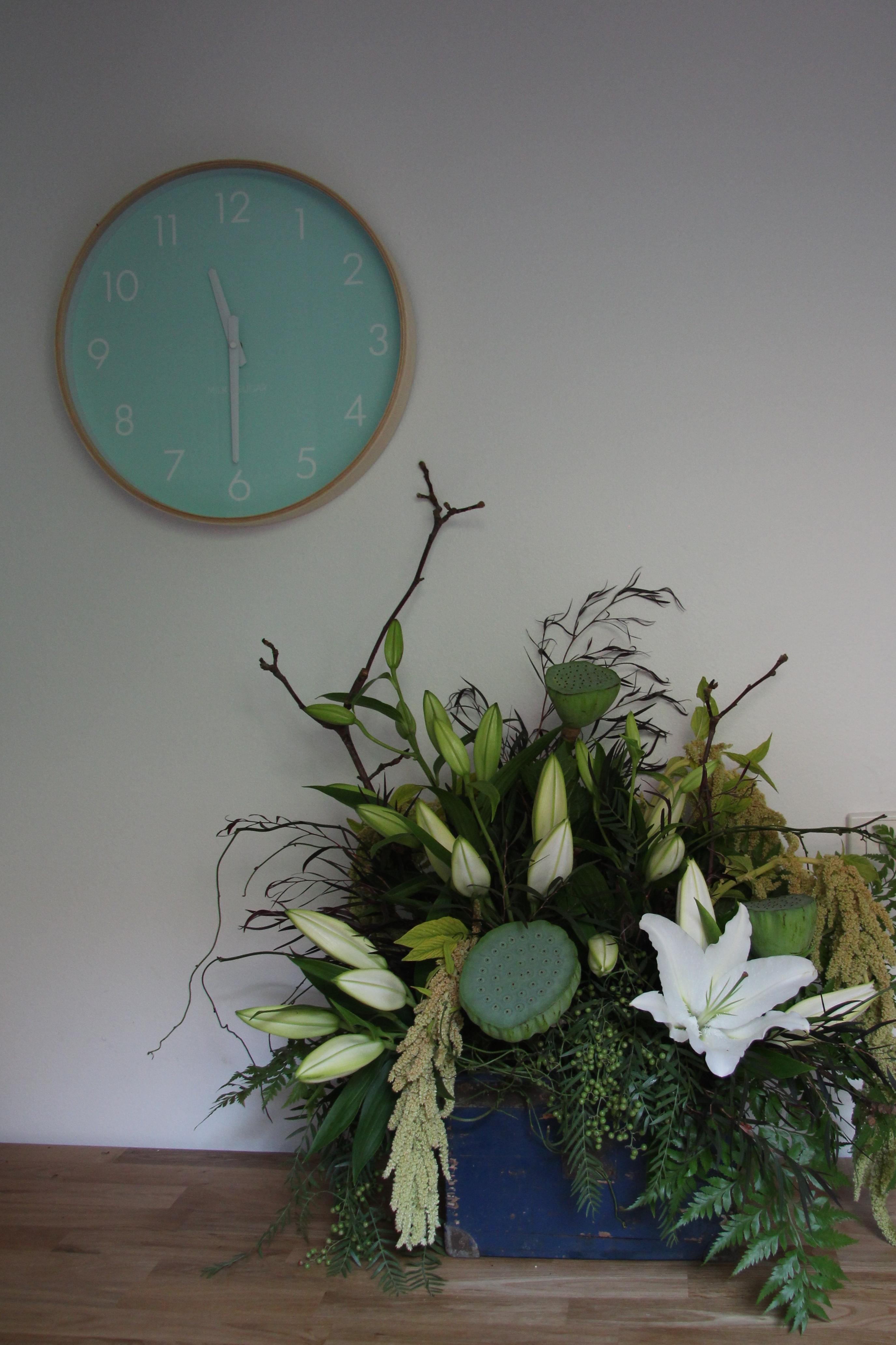 Lily, lotus pod, amaranth